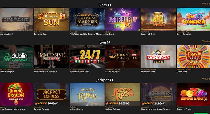 Casino Extra game providers