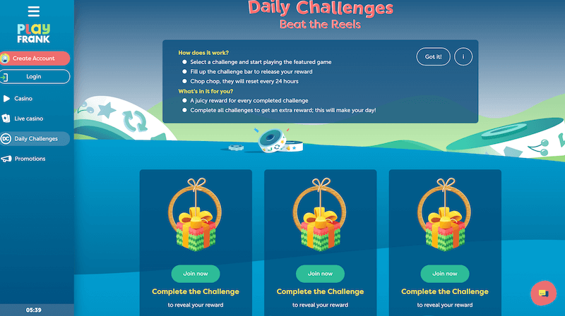 PlayFrank - Daily challenges and rewards