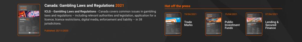 Gambling laws in Canada