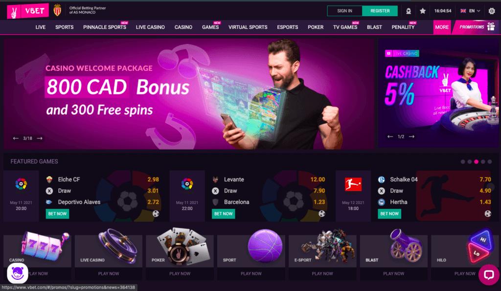 VBet Website