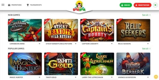 BoaBoa online casino games