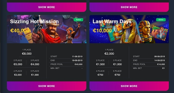 Slot tournaments at Burancasino