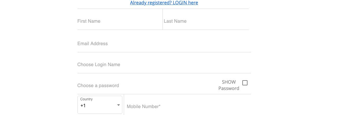 Cash Cabin registration step 2