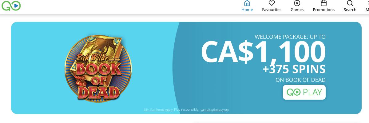 CasiGo welcome bonus