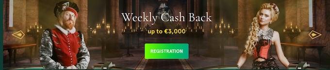 Casinia casino offers