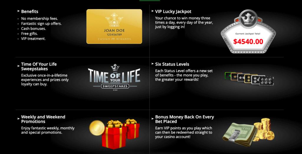 Casino rewards benefits