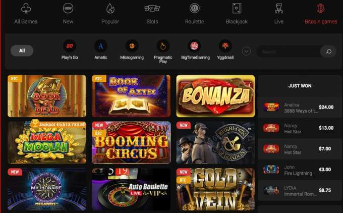 Casinochan casino games