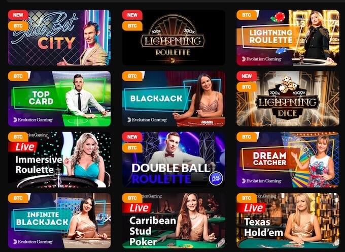 Casinochan live dealer games