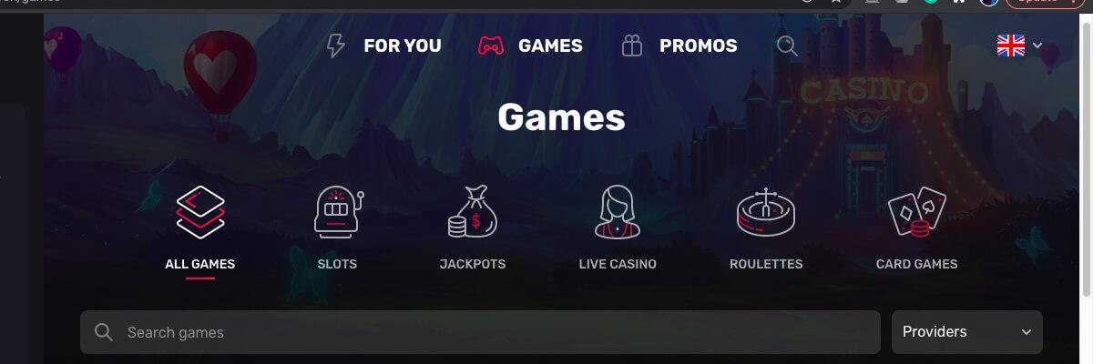 Casinomia games