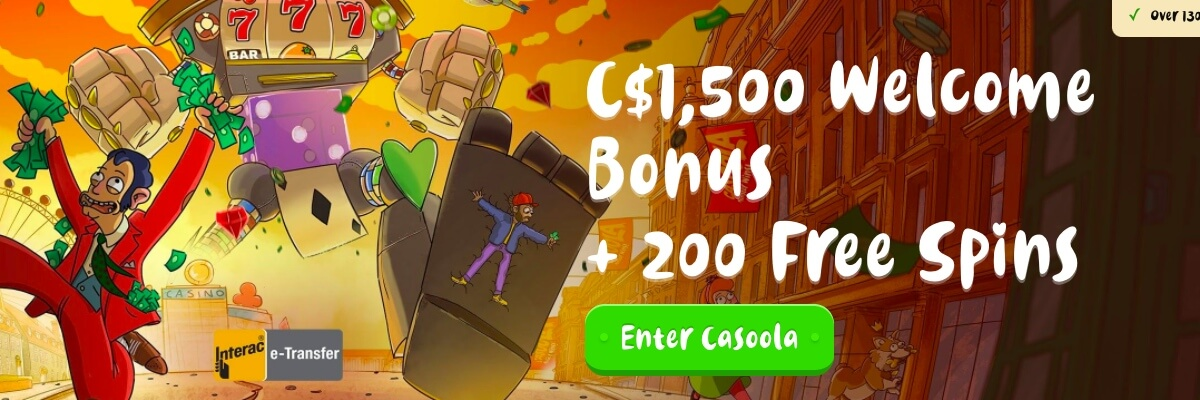 Casoola Casino welcome bonus