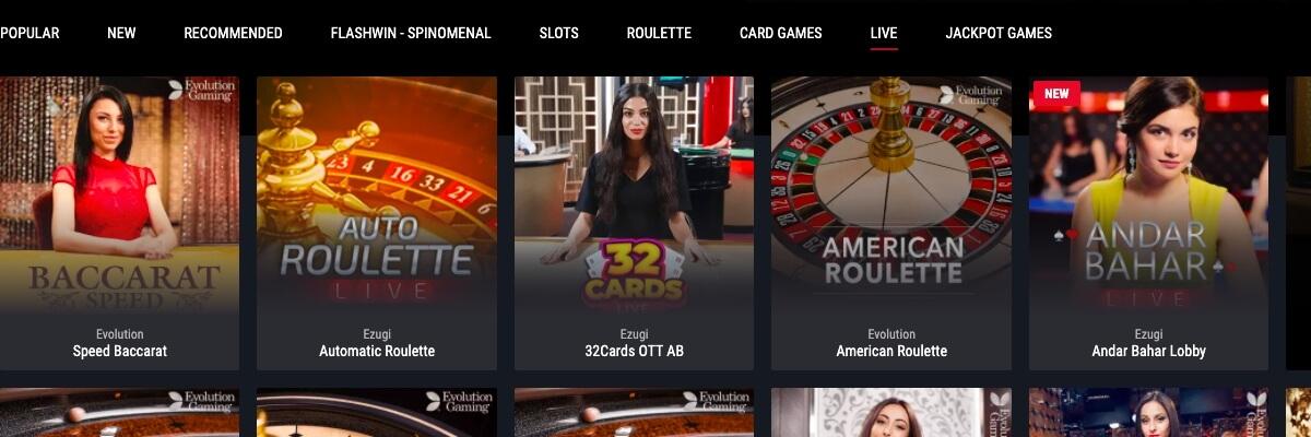 Cobra Live Casino