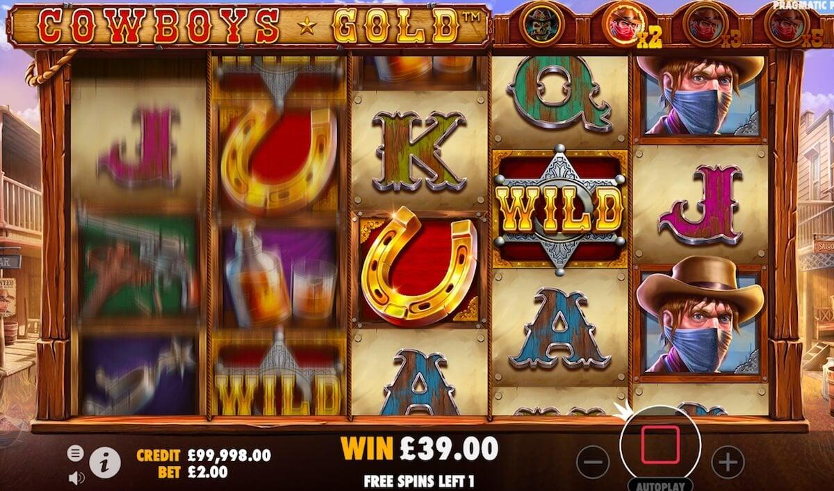 cowboys gold free spins bonus