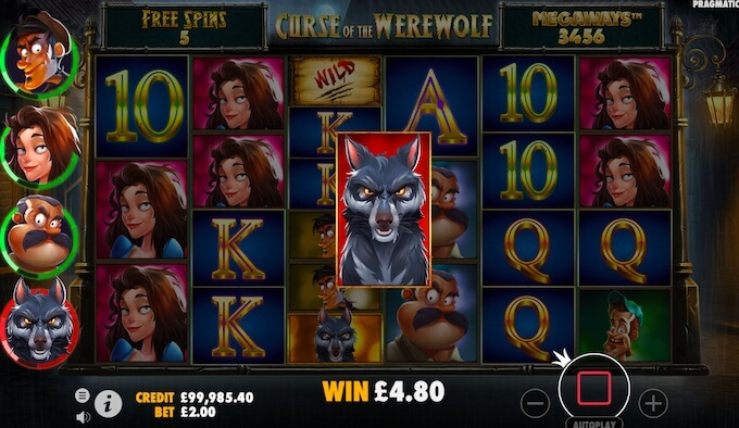 Curse of the Werewolf slot review