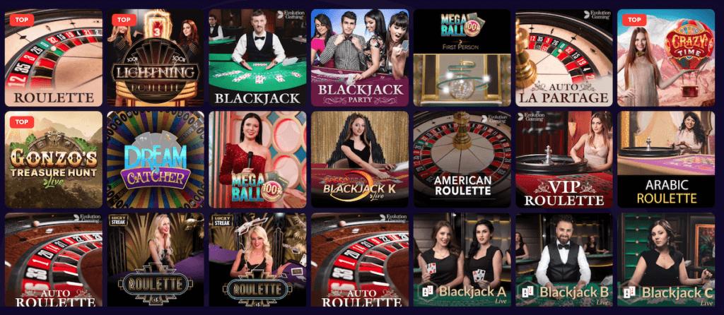 dazard live casino