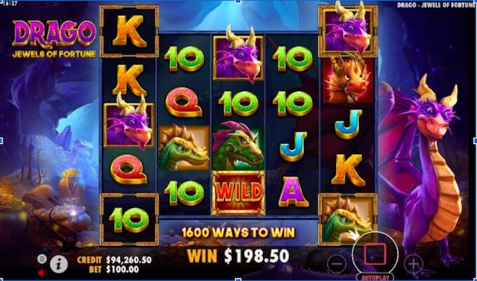 drago jewels of fortune slot pragmatic play
