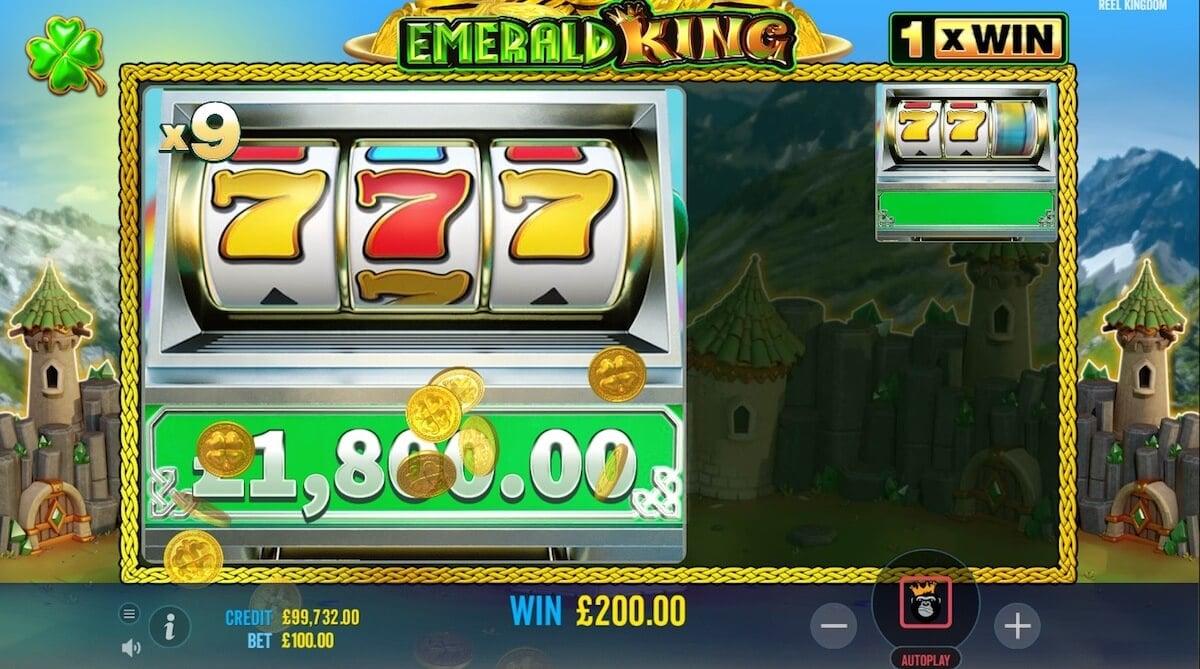 Emerald King Slot Bonus Game