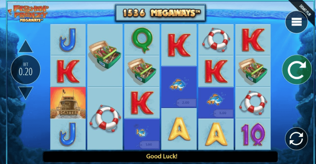 fishin frenzy megaways gameplay