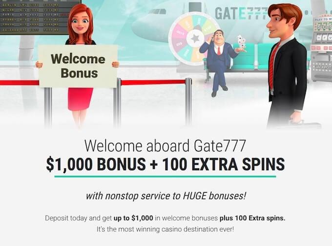 Gate777 casino bonus