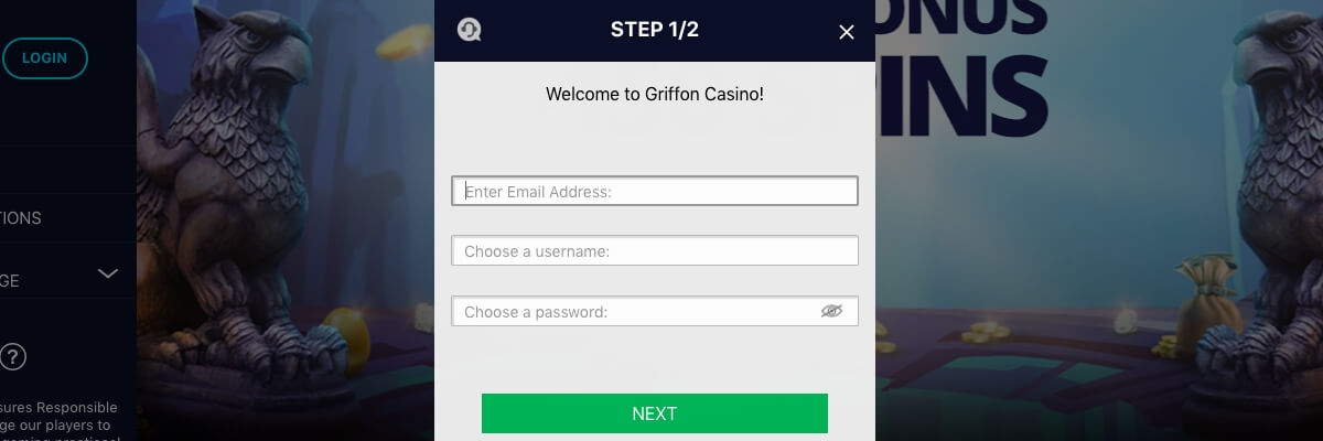 Griffon Casino registration