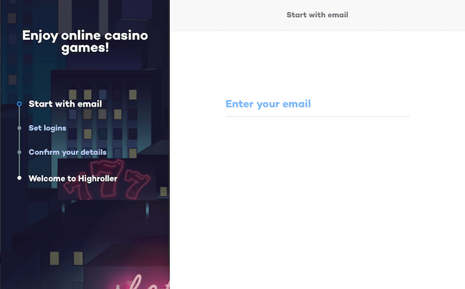 Highroller Casino account