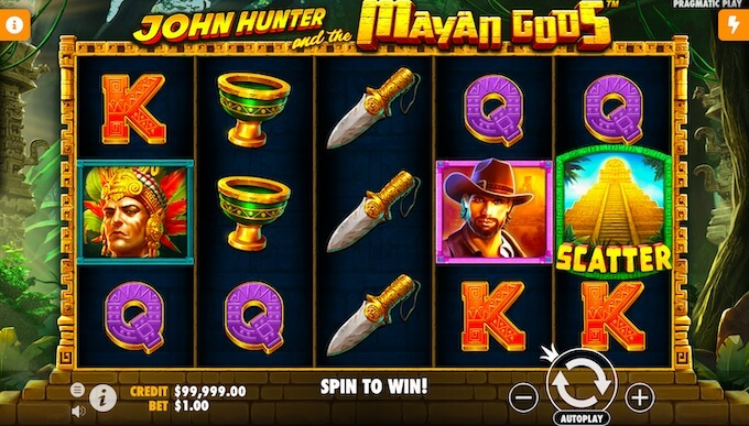 John Hunter and the Mayan Gods by Pragmatic Play