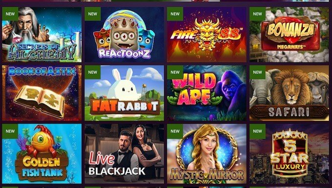 Malina casino games
