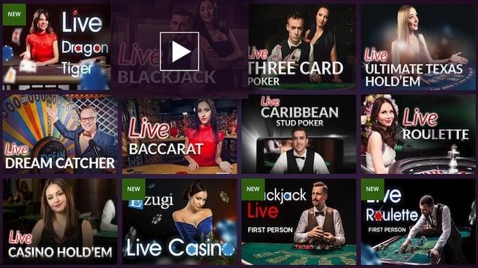 Malina live casino