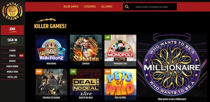 Metal Casino online games