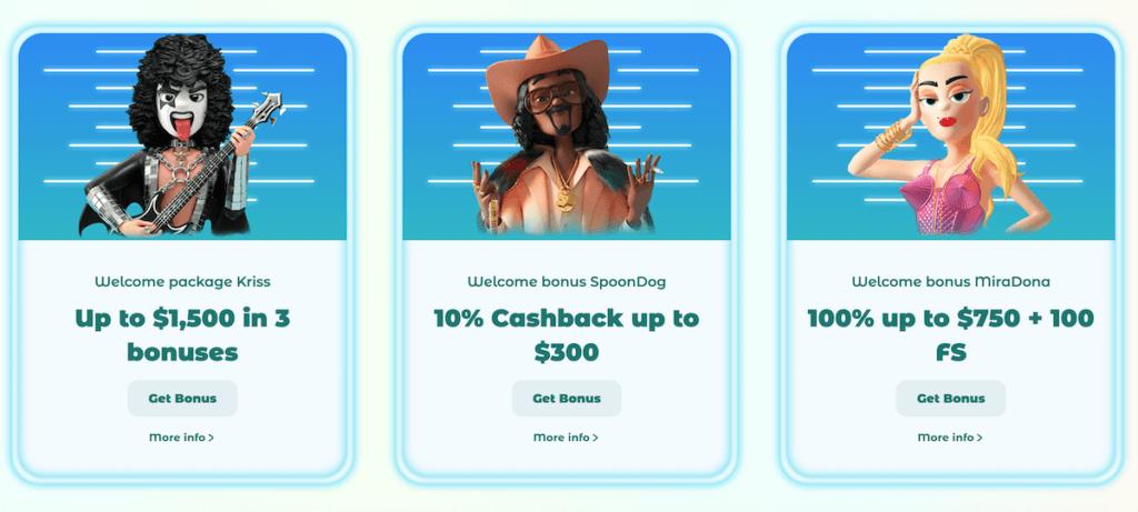 neon54 welcome bonuses