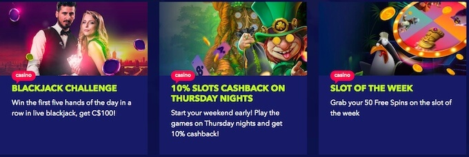 NIghtrush casino review - promotions