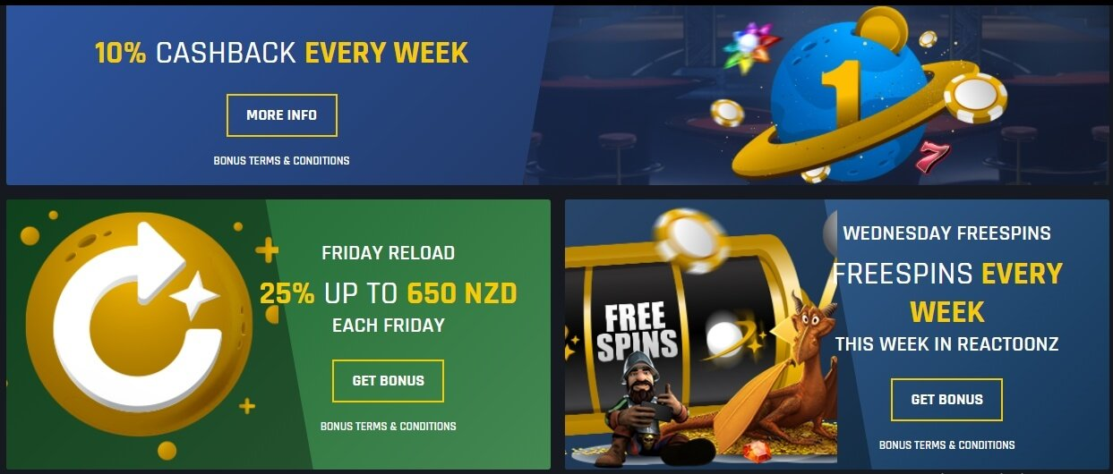Casino Universe promotions