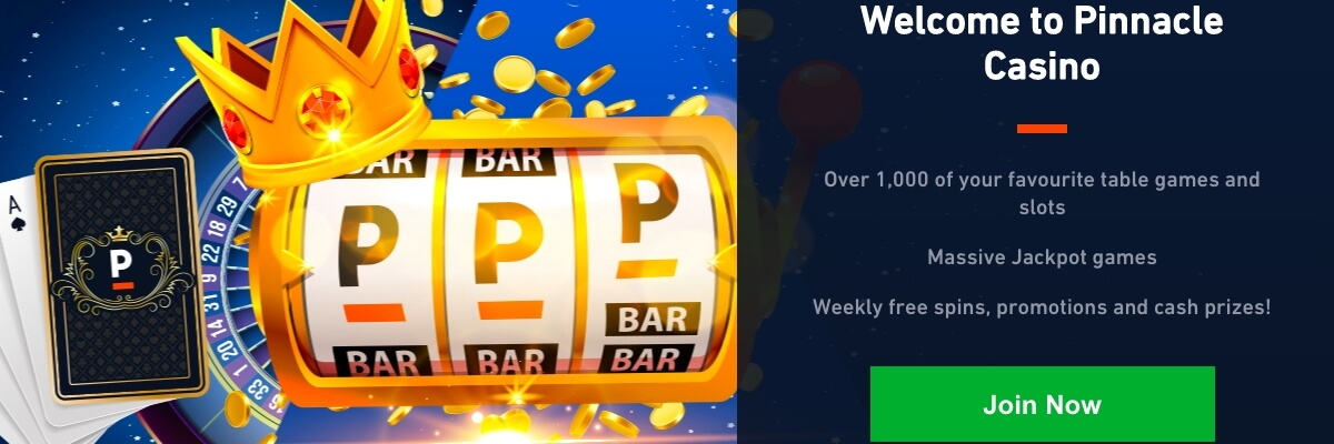 Pinnacle Casino welcome bonus