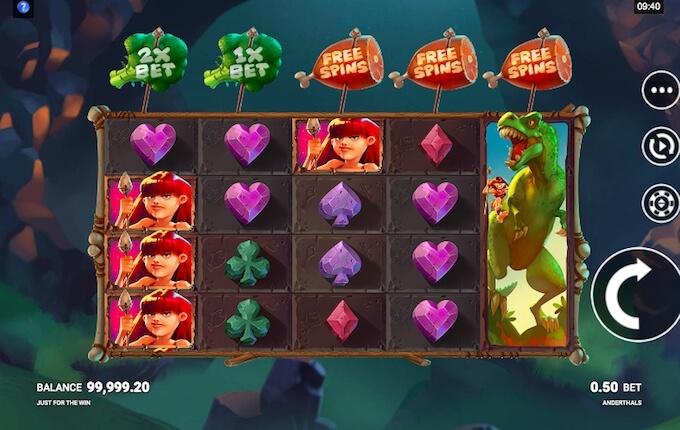 Anderthals slot free spins