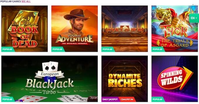 PlayOJO games