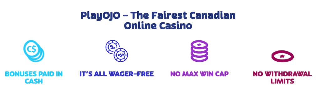 PlayOJO fair and safe online casino