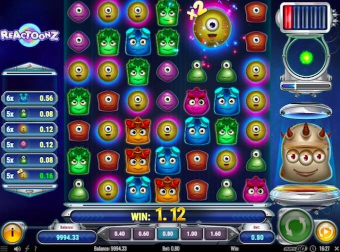 play n go casino en ligne - reactoonz