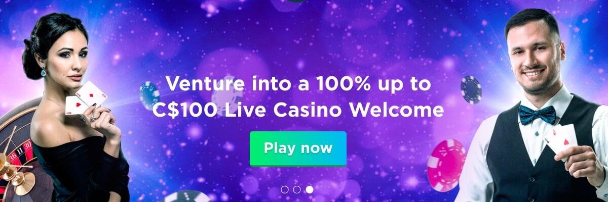 Spela Live casino bonus