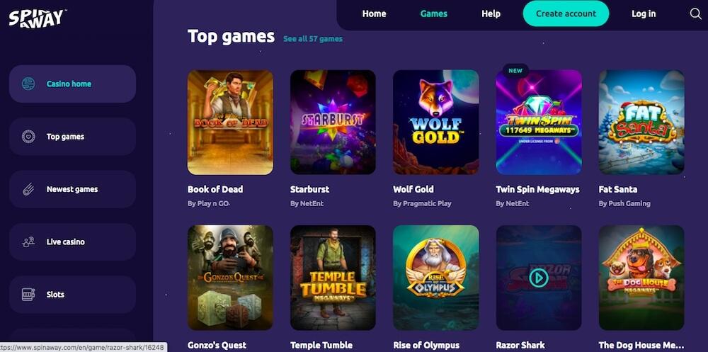 Spin Away Casino Games