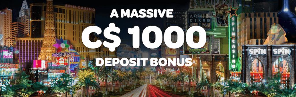 spin casino canada welcome bonus