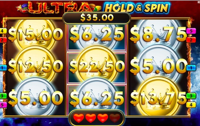 Ultra Hold and Spin Slot
