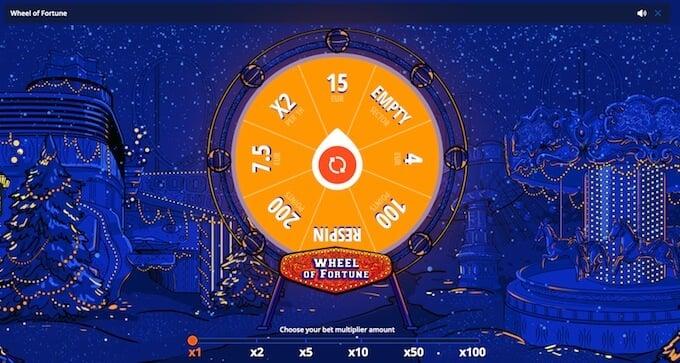 VulkanVegas casino review - wheel of fortune