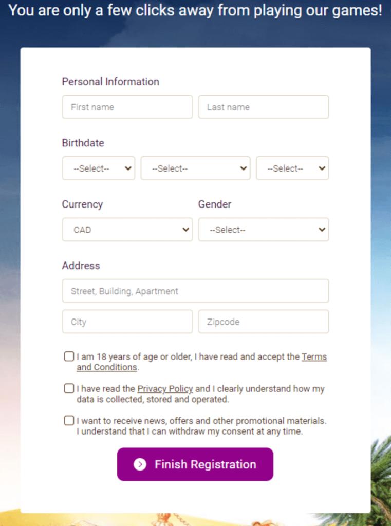 registration for wild sultan casino