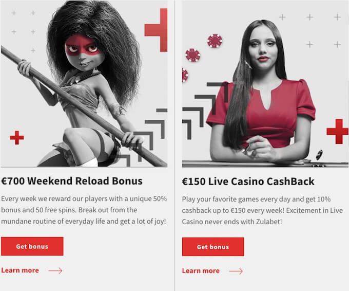 Zulabet casino promotions